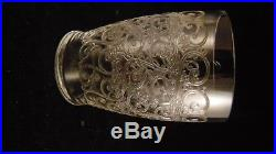 Service de 5 verres à vin en cristal de Baccarat modèle Rohan, hauteur 7.8 cm