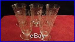Service de 5 verres flutes champagne Baccarat modèle Michelangelo Michelange