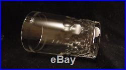 Service de 6 gobelets en cristal de Baccarat modèle Chauny, hauteur 9.8 cm
