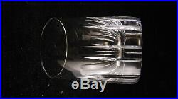 Service de 6 gobelets whisky cristal de Baccarat modèle Rotary, hauteur 7.7 cm