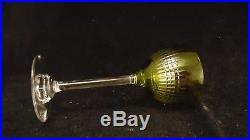 Service de 6 roemers en cristal de Baccarat modèle Nancy vert chartreuse