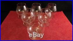 Service de 6 verres à cognac en cristal de Baccarat modèle Cheverny