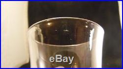Service de 6 verres a eau en cristal de Baccarat forme Tulipe Côtes Creuses
