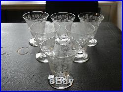 Service de 6 verres à liqueur en cristal de Baccarat modèle Elisabeth