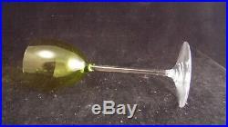 Service de 6 verres à vin Roemers en cristal de Baccarat modèle Perfection vert