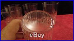 Service de 6 verres gobelets en cristal de Baccarat modèle Nancy hauteur 10 cm