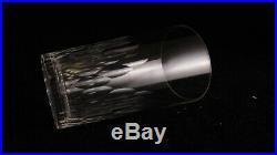 Service de 9 gobelets en cristal de Baccarat modèle Richelieu hauteur 9 cm