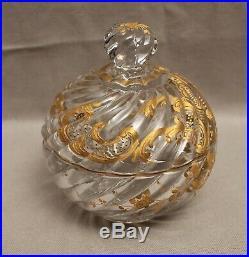 Service de nuit cristal et or Baccarat modèle Bambou époque XIX ème siècle