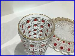 Service de nuit verre d'eau carafe en cristal de BACCARAT Diamants Pierreries