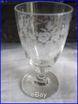 Serviteur Cave A Liqueur Avec Carafes Et Verres En Cristal De Boheme Ou Baccarat