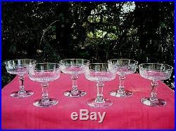Sevres Clichy Coupes A Champagne Cristal Gravé Couronne Blason Armoirie 19ème Ad