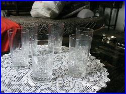 Six Verres Whisky Baccarat Nancy 14 CM