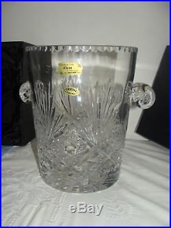 Superbe Ancien Grand Seau A Champagne Cristal Baccarat Klein Certificat Signer
