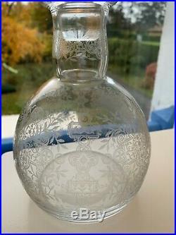 Superbe Carafe Cristal Modele Marillon Signe Baccarat