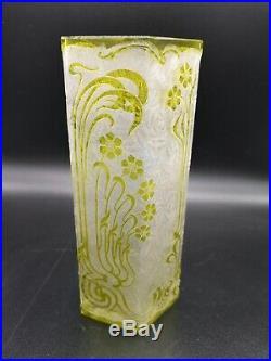Superbe Vase Baccarat En Cristal Dégagé À L'acide 1900