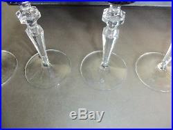 Superbe coffret de 6 verres à vin en cristal coloré BACCARAT BERTRICHAMPS KLEIN