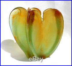 Superbe imposant vase Daum éra Gallé Baccarat Lalique