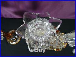 Superbe paire de girandoles cristal Saint Louis baccarat deux branches