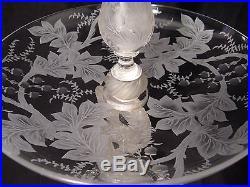 Surtout de table au dauphin en cristal Baccarat XX ème siècle