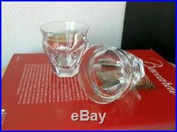 Talleyrand Harcourt cristal de Baccarat. 2 verres / gobelets H7,5cm