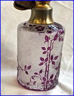 VAPORISATEUR flacon à parfum ART NOUVEAU cristal BACCARAT