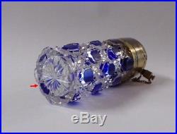 Vaporisateur cristal taillé bicolore Baccarat St Louis XIX 19è