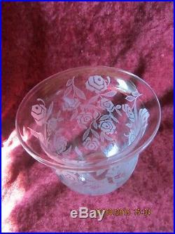 Vase En Cristal De Baccarat Modele Fontenay Aux Roses Art Deco