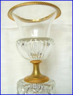 Vase Médicis CRISTAL DE BACCARAT / Le Creusot BRONZE DORE, époque Restauration