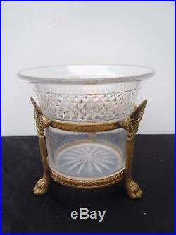 Vase cristal Baccarat monture bronze Victor Saglier