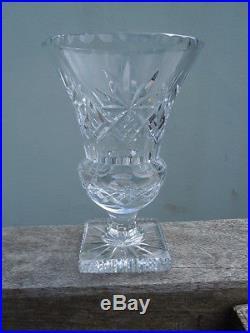 Vase cristal taillé d'époque fin XIX eme Baccarat St Louis