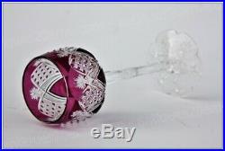 Verre à vin du Rhin en cristal de Baccarat Elbeuf rose, crystal Roemer glass