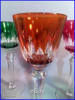 Verres (série de 12) en cristal de Baccarat modèle Picadilly haut 21cm